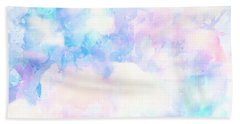 Watercolor Background Beach Towel by Serena King