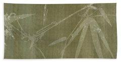 Watercolor Bamboo 01 Beach Sheet