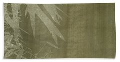 Watercolor Bamboo 02 Beach Towel