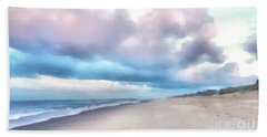Watercolor Beach Beach Sheet