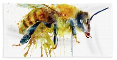 Watercolor Bee Beach Towel