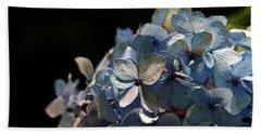 Watercolor Blue Hydrangea Blossoms 1203 W_2 Beach Sheet