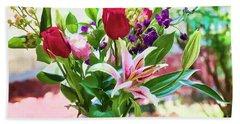 Watercolor Bouquet Beach Sheet