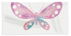 Watercolor Butterfly 1- Art By Linda Woods Beach Towel