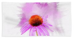 Watercolor Cone Flower Beach Towel