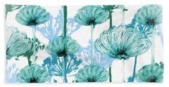 Beach Sheet featuring the digital art Watercolor Dandelions by Bonnie Bruno