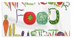 Beach Towel featuring the painting Watercolor Food Illustration  by Irina Sztukowski