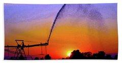 Watercolor Irrigation Sunset 3243 W_2 Beach Sheet
