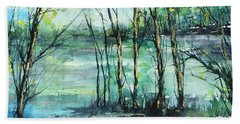 Watercolor Morning Beach Towel by Robin Miller-Bookhout