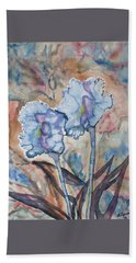 Beach Towel featuring the painting Watercolor - Orchid Impression by Cascade Colors