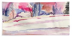 Watercolor River Beach Towel