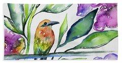 Watercolor - Rufous Motmot Beach Sheet
