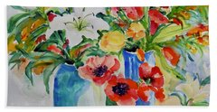 Watercolor Series No. 256 Beach Towel