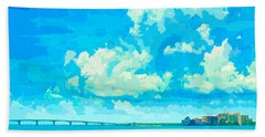 Watercolor Spring On Sarasota Bay Beach Towel