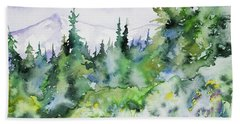 Watercolor - Summer In The Rockies Beach Sheet