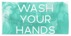Watercolor Wash Your Hands- Art By Linda Woods Beach Towel