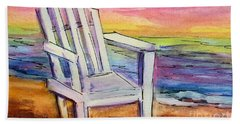 Watercolor White Chair Beach Sheet