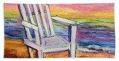 Watercolor White Chair Beach Sheet