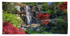 Beach Towel featuring the photograph Waterfall At Maymont by Rick Berk