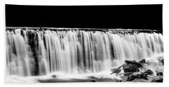 Waterfall At Night Beach Towel