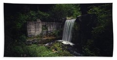 Waterfall At Paradise Springs Beach Towel