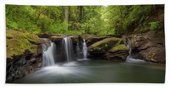 Waterfall At Rock Creek Oregon Beach Towel