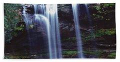Waterfall  Beach Towel by Debra Crank