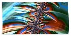 Beach Sheet featuring the digital art Waterfall Fractal 2 by Bonnie Bruno