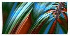 Beach Sheet featuring the digital art Waterfall Fractal by Bonnie Bruno