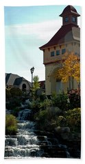 Beach Towel featuring the photograph Waterfall Frankenmuth Mich by LeeAnn McLaneGoetz McLaneGoetzStudioLLCcom