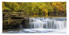 Beach Towel featuring the photograph Waterfall Glen, Lemont, Il by Adam Romanowicz