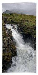 Waterfall In Isle Of Skye Beach Towel