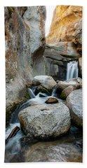 Waterfall In The Buttermilks Beach Towel