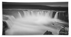 Waterfall Of The Gods Iceland Beach Sheet by Gunnar Orn Arnason