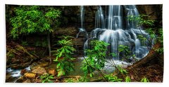Beach Towel featuring the photograph Waterfall On Back Fork by Thomas R Fletcher
