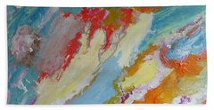 Waterfall On The Unknown Planet Beach Towel