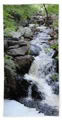 Waterfall Pillsbury State Park Beach Towel