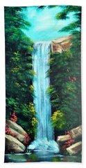 Waterfall Sanctuary Beach Towel