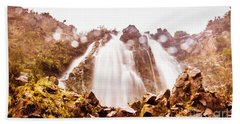 Waterfall Scenics  Beach Towel