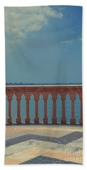 Waterfront Balcony Ringling Ca D Zan The Last Of The Gilded Mansions Beach Towel