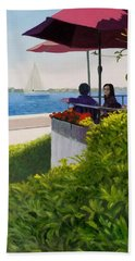 Waterfront Cafe Beach Towel