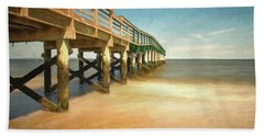 Beach Sheet featuring the photograph Waterfront Park Pier 1 by Gary Slawsky
