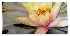 Waterlily  Beach Towel by Carol Grimes
