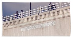Beach Towel featuring the photograph Waterloo Bridge by Rasma Bertz