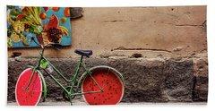 Watermelon Wheels Beach Sheet by Happy Home Artistry