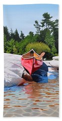 Beach Towel featuring the painting Waters Edge by Kenneth M Kirsch