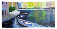 Waters Of Portofino  Beach Towel