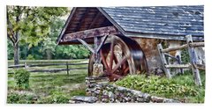Waterwheel Beach Towel by Nicki McManus