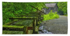 Beach Sheet featuring the photograph Waterworks Mingus Mill Mingus Creek Art  Great Smoky Mountains Art by Reid Callaway