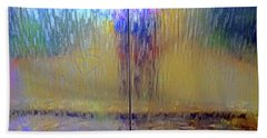 Beach Towel featuring the photograph Watery Rainbow Abstract by Nareeta Martin